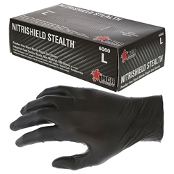 B6060LMG MCR Safety® NitriShield Stealth™ Nitrile Gloves