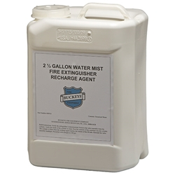 "Buckeye Water Mist Recharge Agent, 2.5 Gal, 13""H x 9 1/4""W x 7 1/2""D"