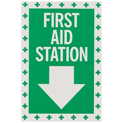 """First Aid"" Vinyl Sign"
