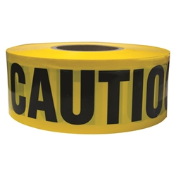 "TruForce™ Barricade Tape, ""Caution"", Yellow/Black"