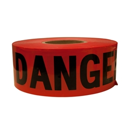 "TruForce™ Barricade Tape, ""Danger"", Red/Black"