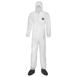 Lakeland MicroMax® NS Coveralls w/ Hood, Boots, & Elastic Wrists, Large, 25/Case