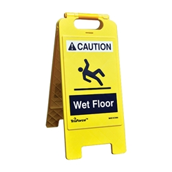 "TruForce™ ""WET FLOOR"" Caution Sign, English"