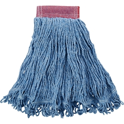 "D25306BLRM Rubbermaid® Super Stitch® Blend Mop, 5"" Headband, Blue, 1/Each"