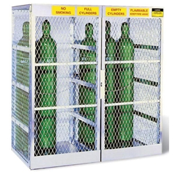 "Justrite® Pressurized Gas Cylinder Locker, Vertical, 65""H x 60""W x 32""D"