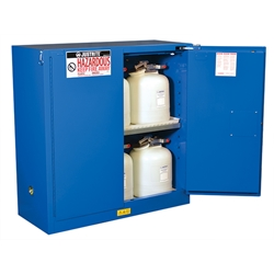 "Justrite® Sure-Grip® EX Hazardous Material Safety Cabinet, 30 gal, 1 shelf, 44""H x 43""W x 18""D"