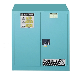 Justrite® Sure-Grip® EX Safety Cabinet w/ Manual Doors, 30 gal (Corrosives)