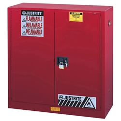 Justrite® Sure-Grip® EX Class III Paint Storage Cabinet, 40 gal, Self-Closing Doors, Uniform Fire Code