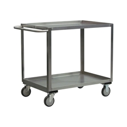 "Jamco Stainless Steel Service Cart, 30""L x 35""H x 18""W"