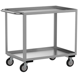 "Jamco Stainless Steel Service Cart, 36""L x 35""H x 24""W"