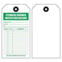 Emergency Shower/Eyewash Tags
