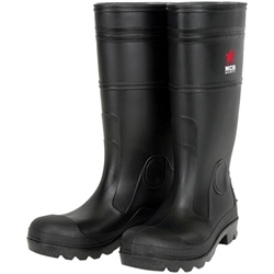 "MCR Safety® 14"" PVC Boots, Steel Toe, Size 10"