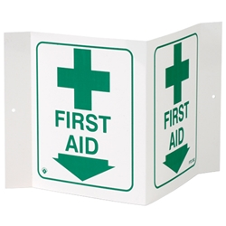 """First Aid"" 3-D Sign"