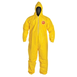 DuPont™ Tychem® QC Coveralls w/ Elastic Ankles, Large