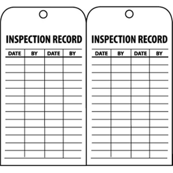 "NMC™ Inspection Record Tags, 6"" x 3"""