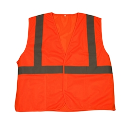 TruForce™ Class 2 Solid Mesh Safety Vest, Orange, 2X-Large