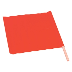 "TruForce? All-Weather Traffic Flag, 18"" x 18"" w/ 24"" Dowel"